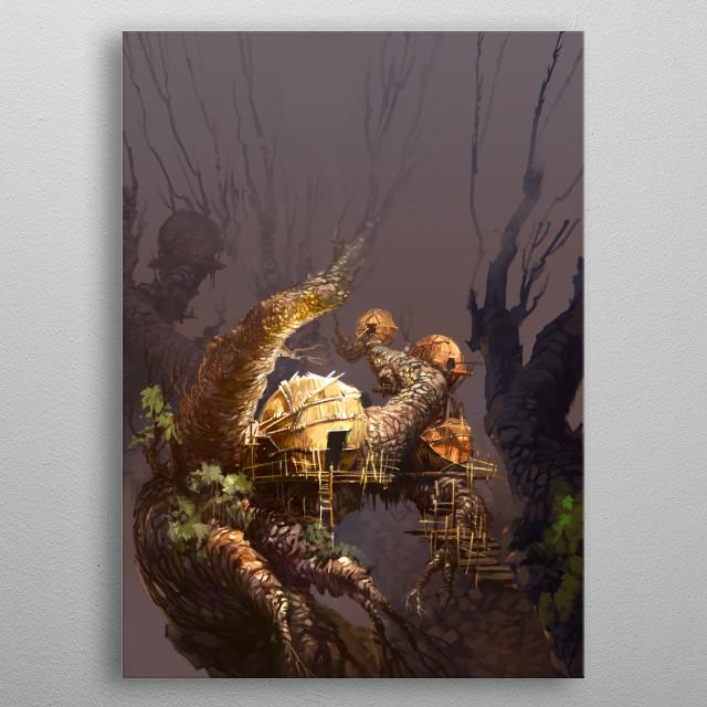 COCOONS metal poster