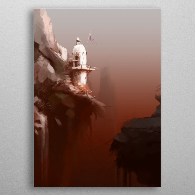 THE WATCH TOWER metal poster