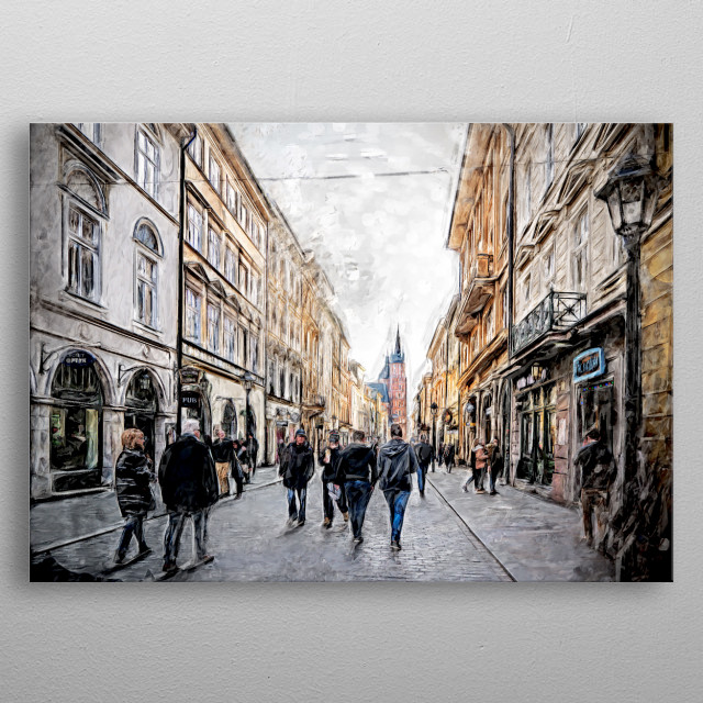 Krakow Florianska street #cracow #krakow metal poster