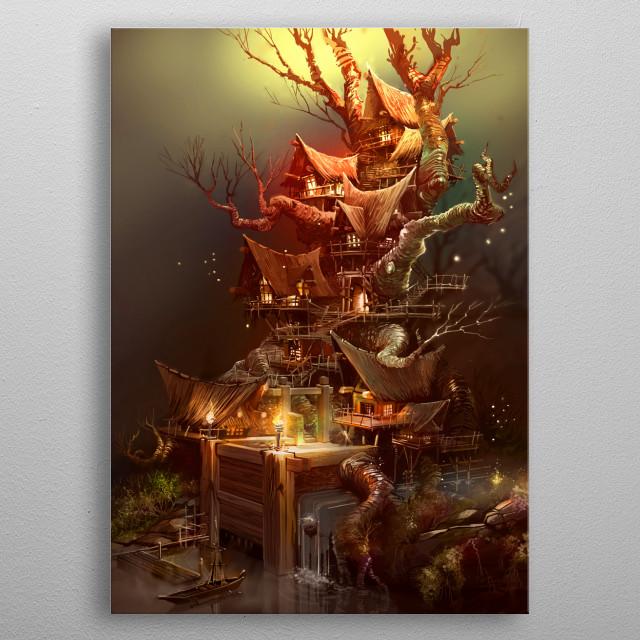 INHABITED metal poster