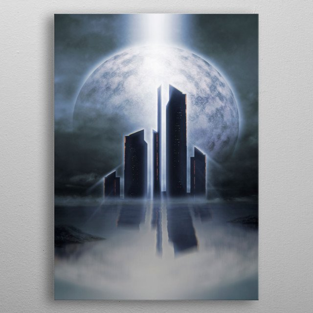 High-quality metal print from amazing Futuristic Visions collection will bring unique style to your space and will show off your personality. metal poster