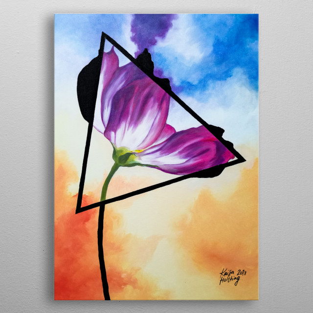 Twisted Tulip metal poster