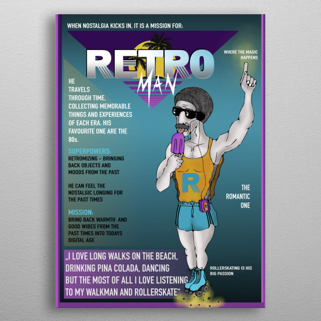 bizarre superheroe metal poster