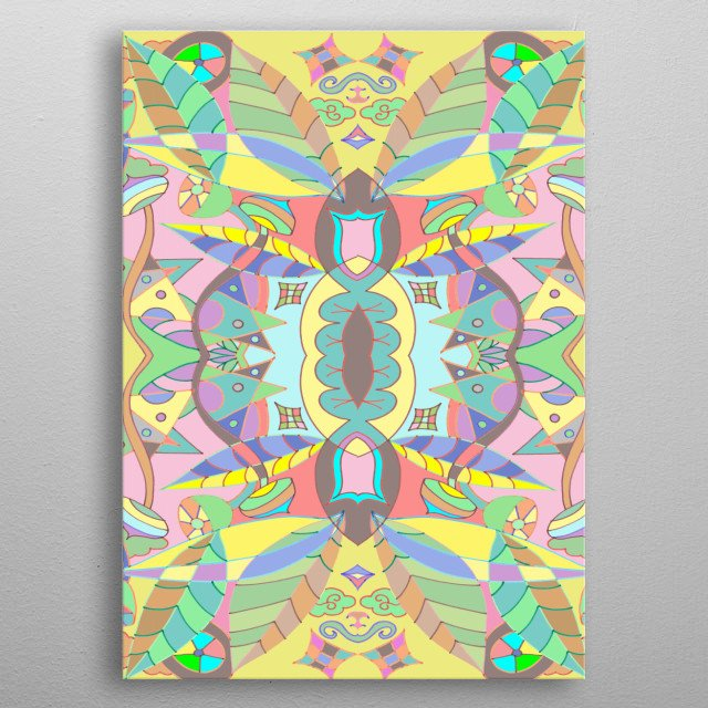 Forest flowers Abstract  metal poster