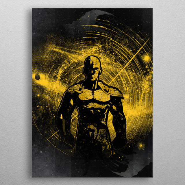Space punch metal poster