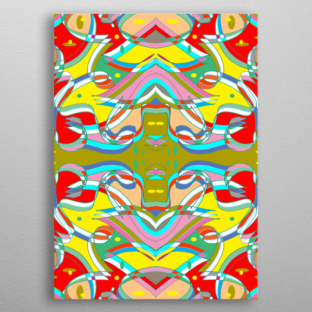 Spaceship Abstract metal poster