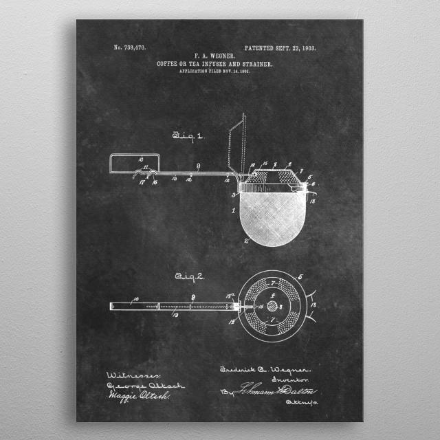 patent art Wegner 1903 Coffee or tea infuser and strainer metal poster