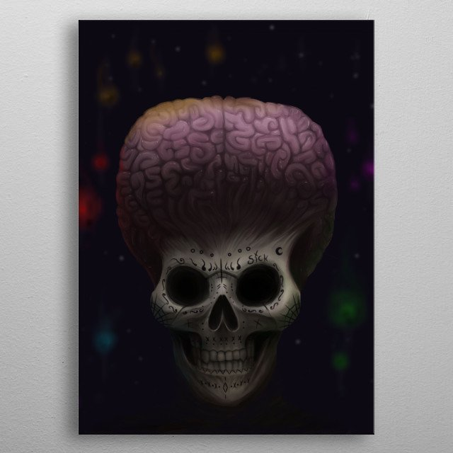 Fascinating metal poster designed by Sick Crimson. Displate has a unique signature and hologram on the back to add authenticity to each design. metal poster