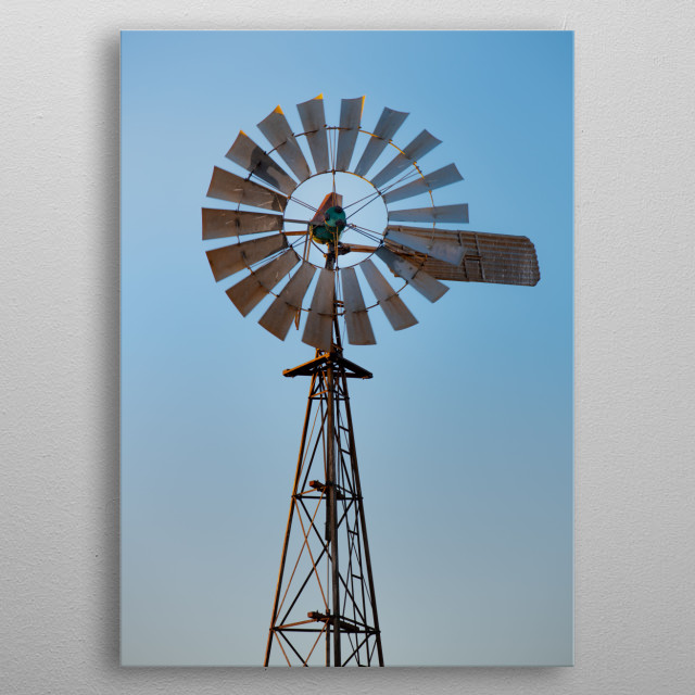 No9 - Life can be like a windmill if you let it take you round and round. metal poster