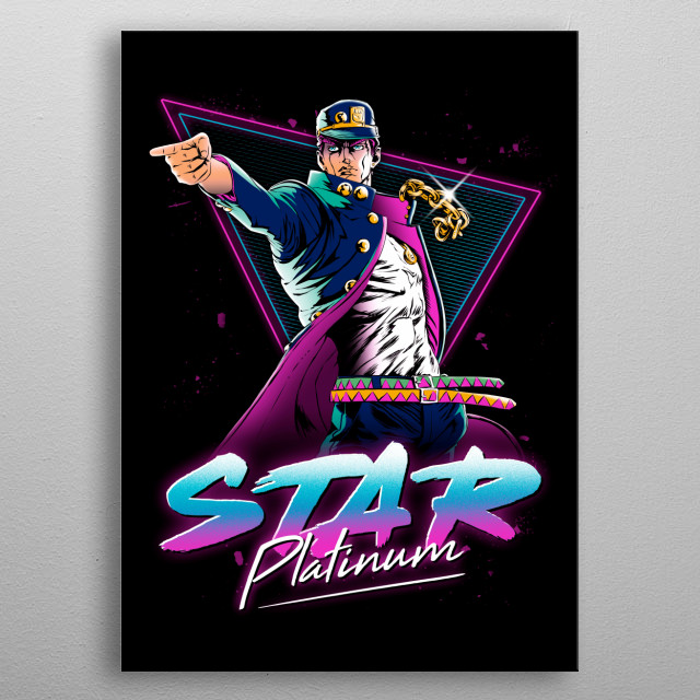 Star Platinum metal poster