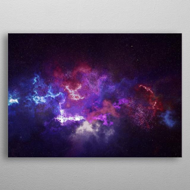 Purple Nebula metal poster