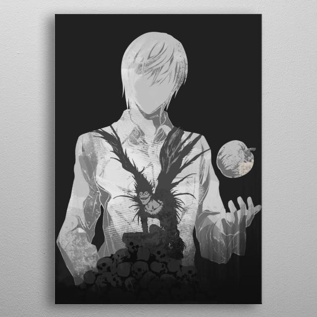 Monochrome Kira metal poster