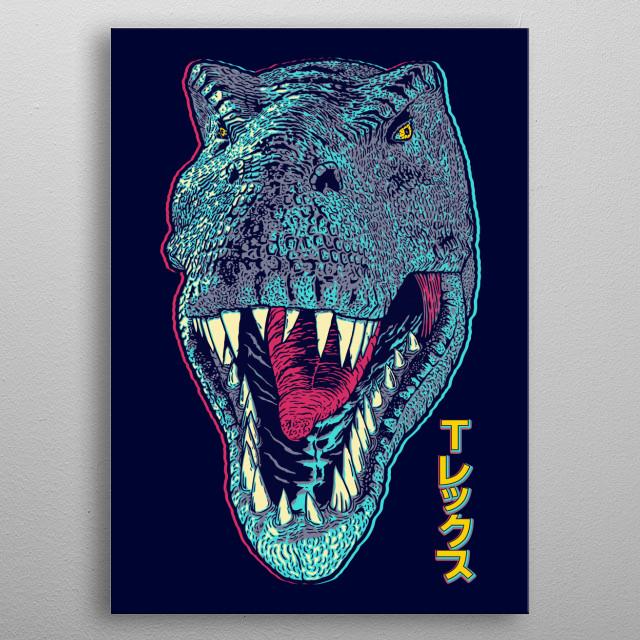 T-Rex glitch. metal poster