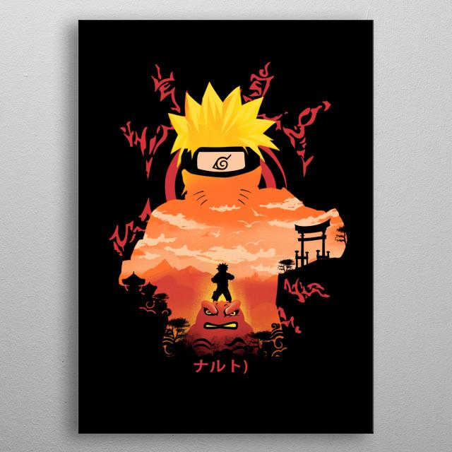 Hero of the Hidden Leaf metal poster