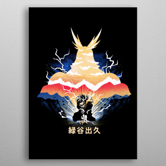 You can be a Hero metal poster