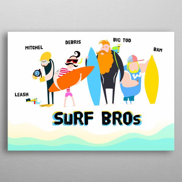 funny surf gang metal poster