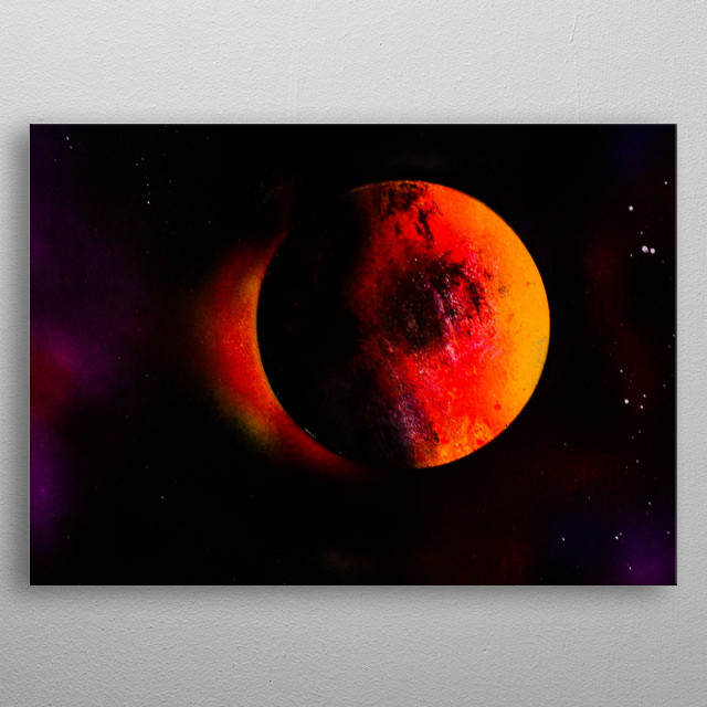Solar blood eclipse  metal poster