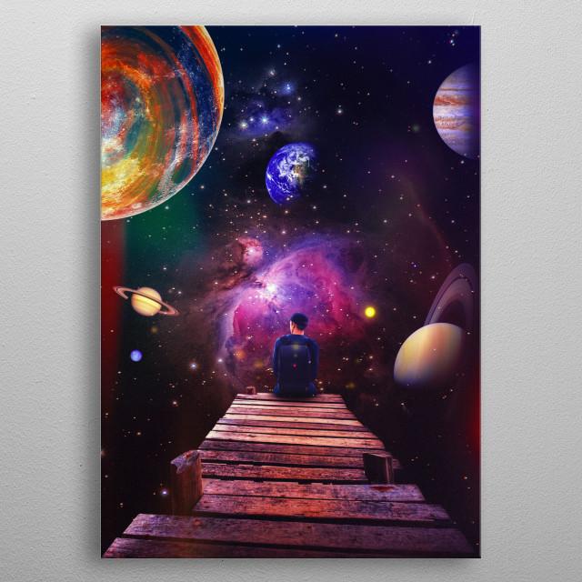 Needing Space  metal poster