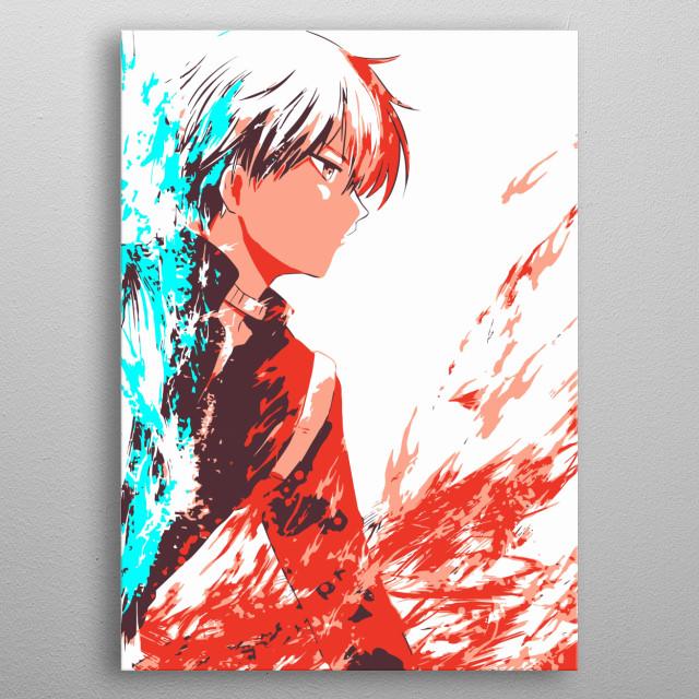 Todoroki Shouto, Boku no Hero Academia metal poster