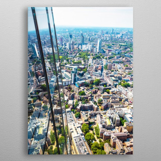 View from Shard metal poster