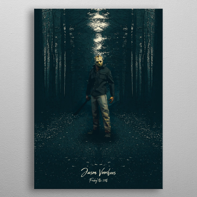 Jason Voorhes  metal poster