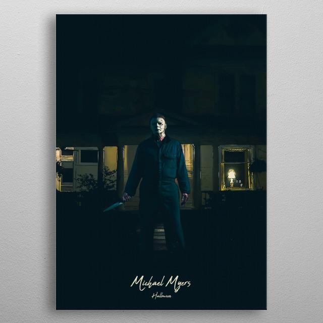 Michael Myers - Halloween metal poster