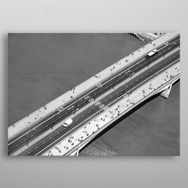 Aerial Bridge metal poster