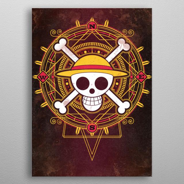 Art of a Pirate metal poster