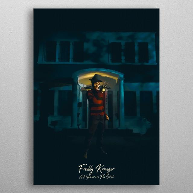 Freddy Krueger - A Nightmare on Elm Street metal poster