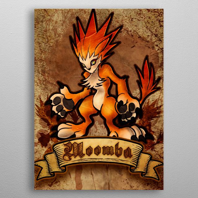Moomba ! metal poster