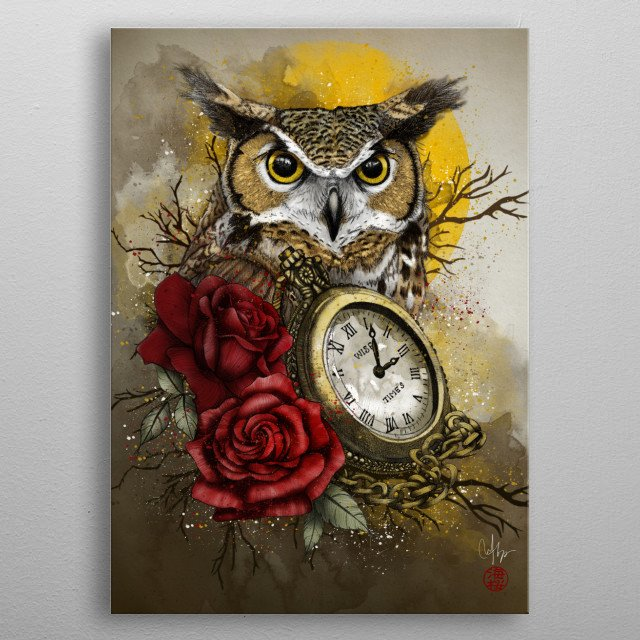 Time is Wise metal poster