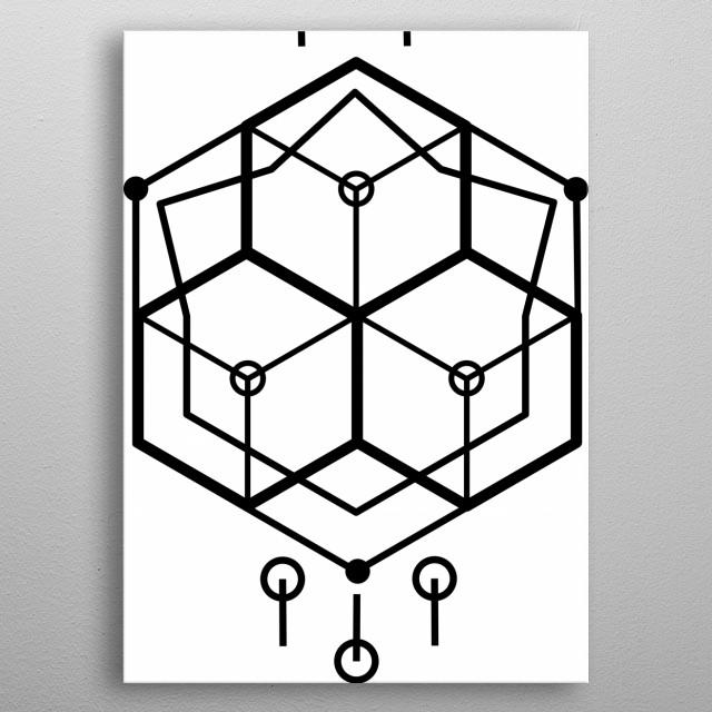 Digital technology world metal poster