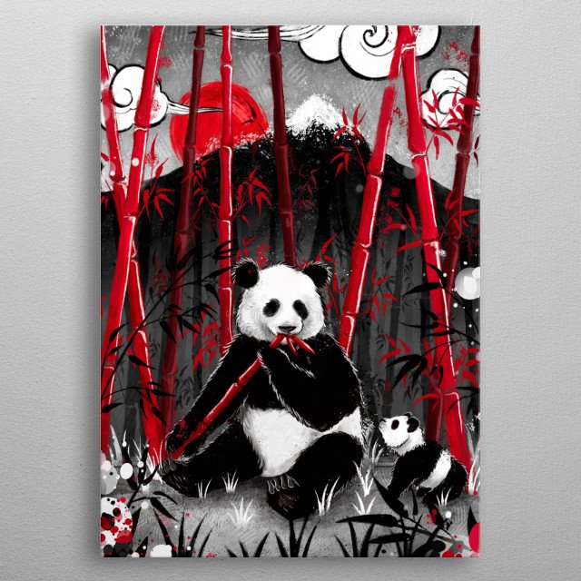 Panda lunch metal poster