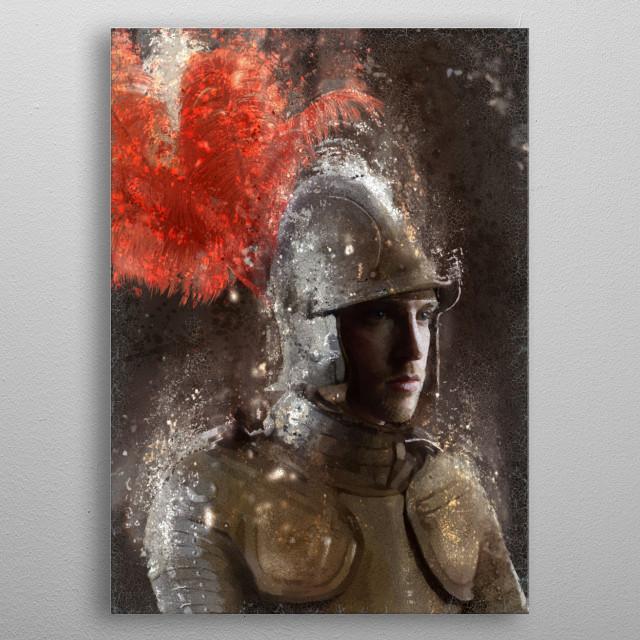 Spanish Knight metal poster