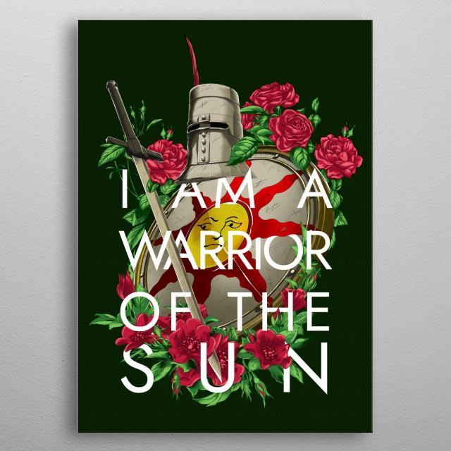 Hello Sun Knight metal poster