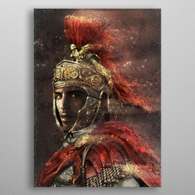 Roman Officer metal poster