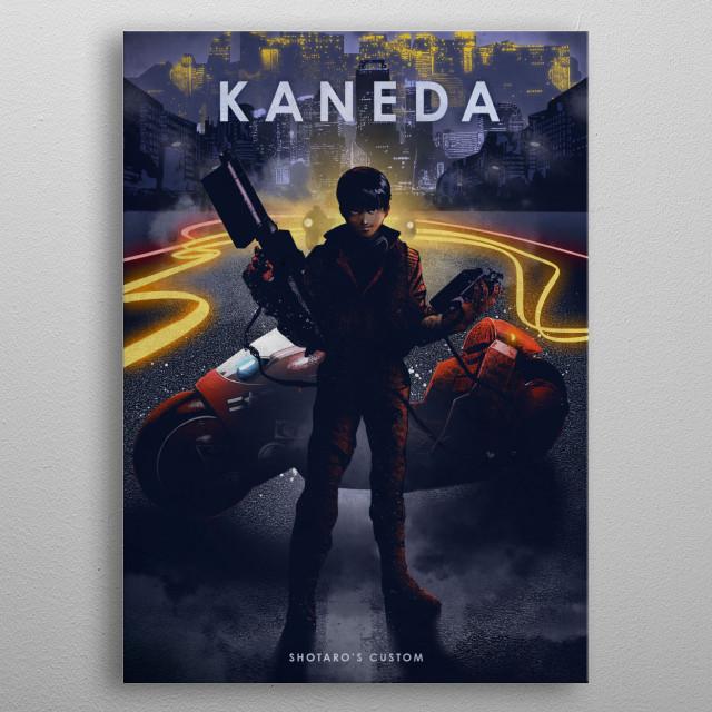 Kaneda  metal poster