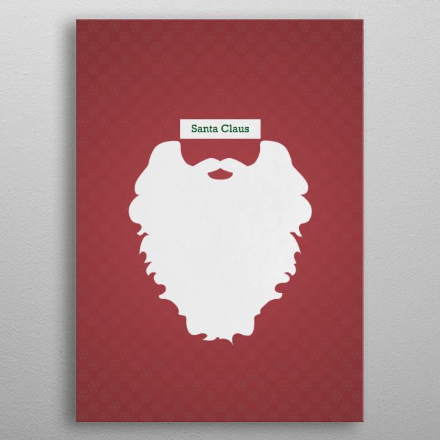 Santa Claus metal poster