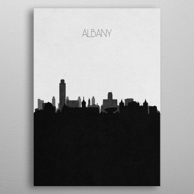 Destination: Albany metal poster