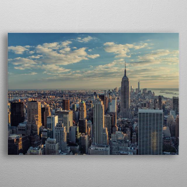 New York City photography. metal poster