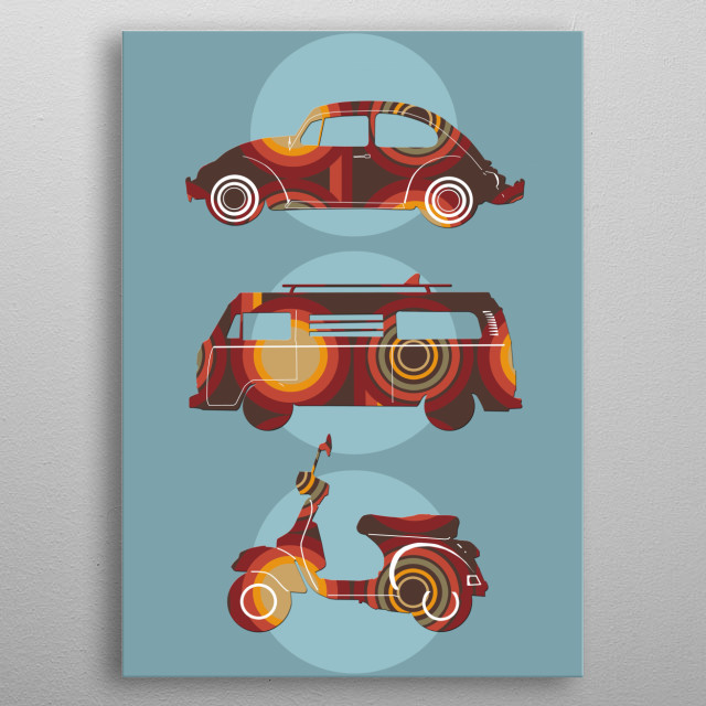 High-quality metal print from amazing Retro Pop Art collection will bring unique style to your space and will show off your personality. metal poster