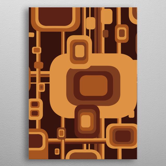 retro pattern metal poster