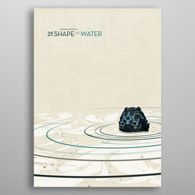 The Shape Of Water metal poster