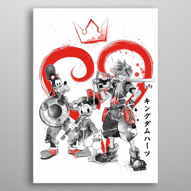 Kingdom Sumi-e metal poster