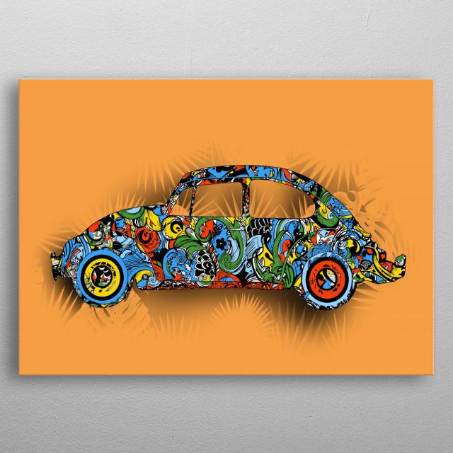 retro car metal poster