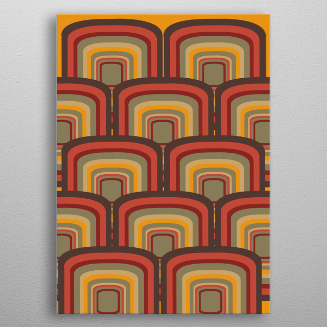 retro pattern 4 metal poster