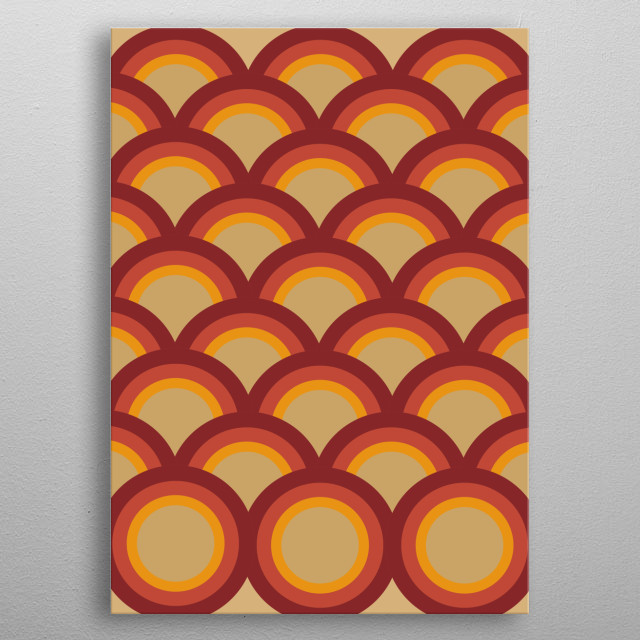 High-quality metal print from amazing Retro Abstract collection will bring unique style to your space and will show off your personality. metal poster
