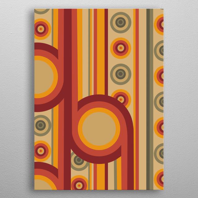 retro pattern 9 metal poster