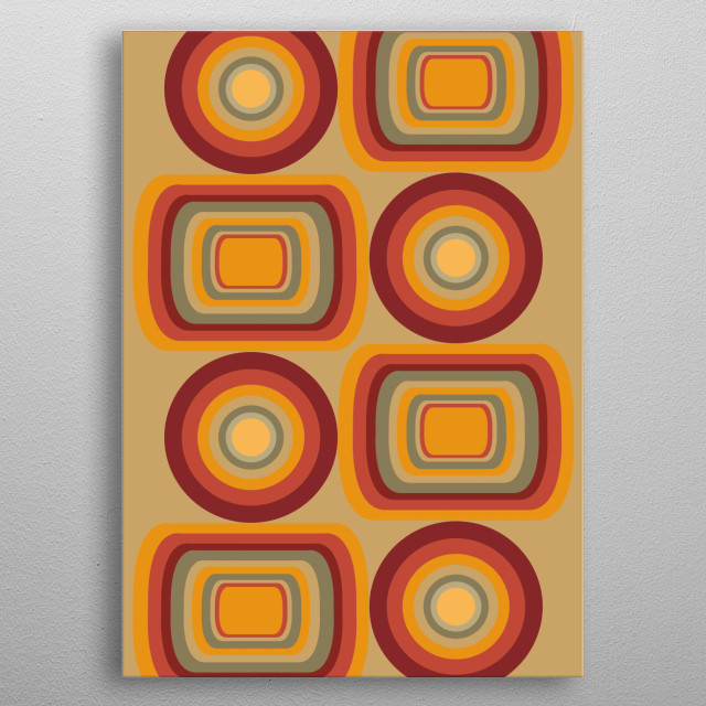 retro pattern 13 metal poster