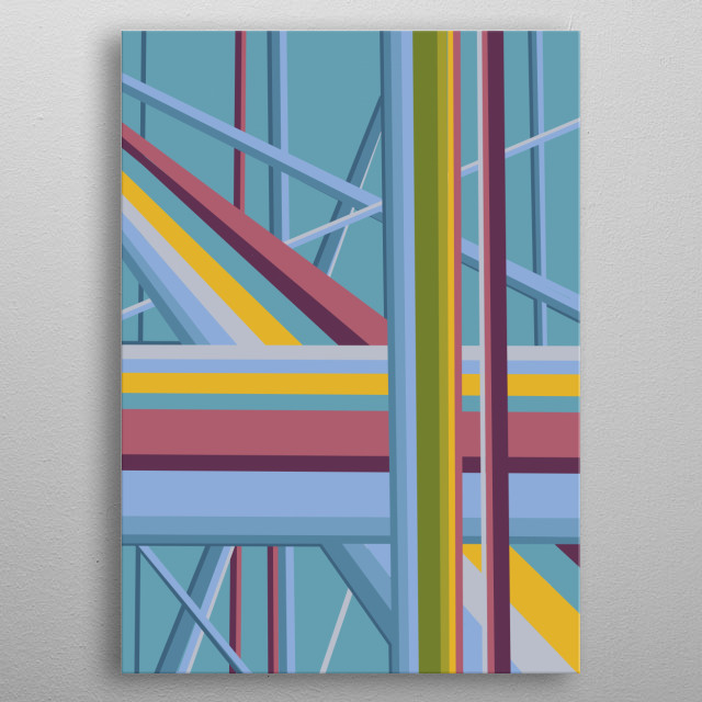 retro abstract 2 metal poster